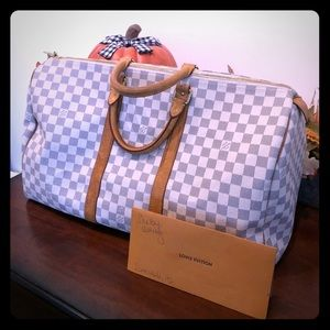 🔥Authentic Louis Vuitton Keepall 50 in Azur🔥